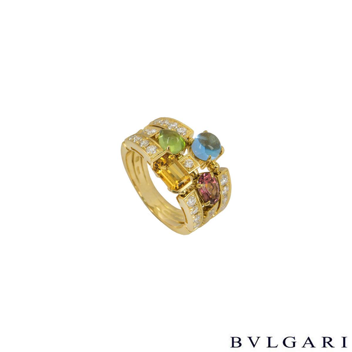 Bvlgari Yellow Gold Allegra Ring AN852171
